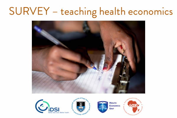 Calling all those teaching health economics in sub-Saharan Africa